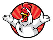 Poulet gai illustration stock