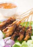 Poulet gastronome asiatique satay Photographie stock libre de droits