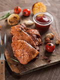 Poulet grillé Photos stock