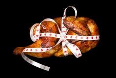 Poulet grillé dans un cadeau Image stock