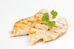 Poulet grillé par filet Photographie stock