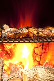 Poulet grillé par flamme juteuse Image stock