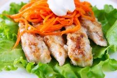 Poulet grillé sur la salade Photos libres de droits