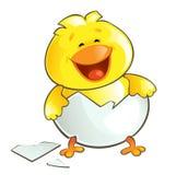 Poulet heureux illustration de vecteur
