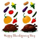 Poulet heureux de thanksgiving Image libre de droits