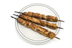 Poulet Kebabs Photos libres de droits