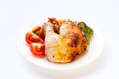 Poulet quart grillé Image stock