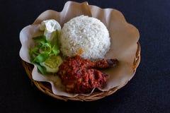 Poulet rôti avec l'épice de rujak photo libre de droits