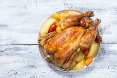 Poulet r?ti images stock