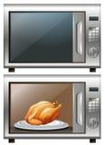 Poulet rôti en four à micro-ondes Illustration Libre de Droits
