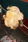 Poulet sur le barbecue Image stock