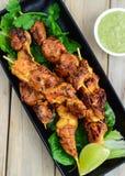 Poulet Tikka Kebab Photo stock