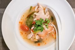 Poulet Tom Yum photographie stock