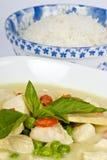 Poulet vert thaï de cari Image stock
