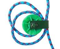 Poulie avec la corde photographie stock