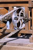 Poulie d'une machine agricole photographie stock