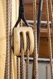 Poulie de bateau photo stock