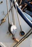 Poulie et corde Photo libre de droits