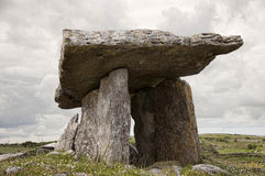 Poulnabrone dolmen. View of Poulnabrone dolmen. It is a portal tomb in the Burren, County Clare, Ireland. Neolithic period between 4200 BC to 2900 BC Stock Photography