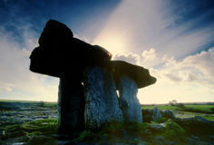 Poulnabrone Dolmen. Ancient buiral chamber in the Burren, Co.Clare, Ireland Stock Photography