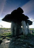 Poulnabrone Dolmen. Ancient buiral chamber in the Burren, Co.Clare, Ireland Royalty Free Stock Photos