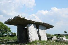 Poulnabrone Dolmen. In Co. CLare Ireland stock photo