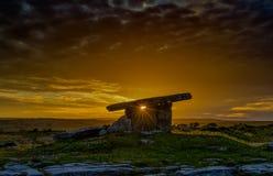 Poulnabrone dolmen 24-07-2017 Royaltyfri Bild