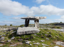 Poulnabrone Dolmen. Burial marker from prehistoric times in south west Ireland called Poulnabrone Dolmen Stock Images