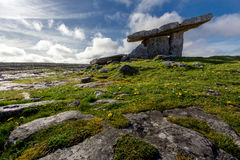 Poulnabrone Dolmen, Burren, Co Clare, Ireland. Stock Images