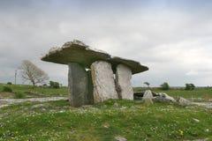 Poulnabrone dolmen, Ireland. Portal tomb in the limestone Burren area of County Clare, Ireland Stock Photo
