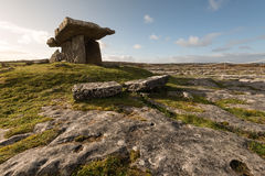 Poulnabrone dolmen, Ireland. Poulnabrone dolmen is a neolotic portal tomb located in the Burren, County Clare, Ireland Royalty Free Stock Photography