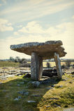 Poulnabrone dolmen in Ireland. 5,000 years old portal tomb in the limestone Burren area of County Clare, Ireland Royalty Free Stock Photo