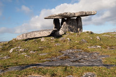 Poulnabrone dolmen. Is a neolotic portal tomb located in the Burren, County Clare, Ireland Stock Images