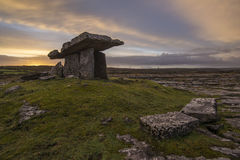 Poulnabrone dolmen. The Poulnabrone Dolmen, one of the finest remaining dolmans in Ireland. 5000 year old Royalty Free Stock Photography