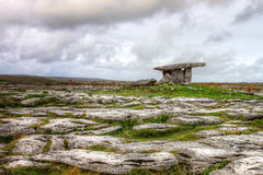 Poulnabrone dolmen portal tomb in Ireland. Poulnabrone dolmen, 5,000 year old portal tomb in the limestone Burren area of County Clare - Ireland Royalty Free Stock Photo