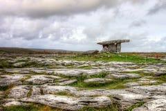 Poulnabrone dolmen portal tomb in Ireland. Royalty Free Stock Photo