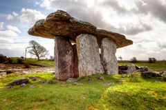 Poulnabrone dolmen portal tomb in Ireland. Royalty Free Stock Photography