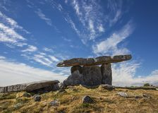 Poulnabrone dolmen. Portal tomb in the Burren, County Clare, Ireland Royalty Free Stock Images