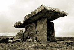 Poulnabrone dolmen (sepia) Stock Photos