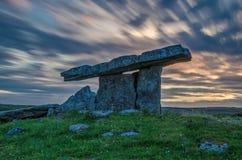 Poulnabrone dolmen 24-07-2017 Royalty Free Stock Photo