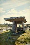 Poulnabrone dolmen w Irlandia Zdjęcie Royalty Free