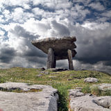 Poulnabrone dolmen. 5,000 year old portal tomb in the limestone Burren area of County Clare, Ireland Royalty Free Stock Photography