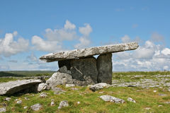 Poulnabrone Portal Dolmen. Is an ancient stone tomb in Ireland Royalty Free Stock Photography
