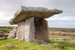 Poulnabrone Portal Tomb in Ireland. Royalty Free Stock Photography