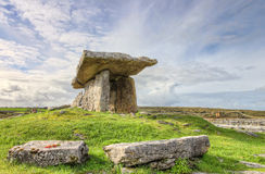 Poulnabrone Portal Tomb in Ireland. Poulnabrone Portal Tomb is one of the most popular megalithic monuments in Ireland. Dating back to the Neolithic period Stock Images