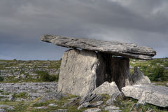 Poulnabrone Tomb. Poulnabrone megalithic tomb in Ireland stock images