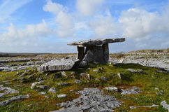 Poulnabrone Tomb and The Burren. In Ireland Stock Photography