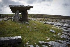 Poulnabrone Tomb- The Burren. Poulnabrone Tomb in The Burren region of Connemara Ireland Royalty Free Stock Image