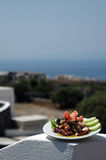 Poulpe grillé grec réel photos stock