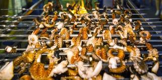 Poulpe grillé grillé Photographie stock libre de droits